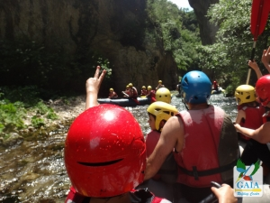 Rafting for children and family